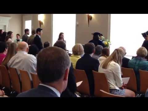 Phi Beta Kappa ceremony