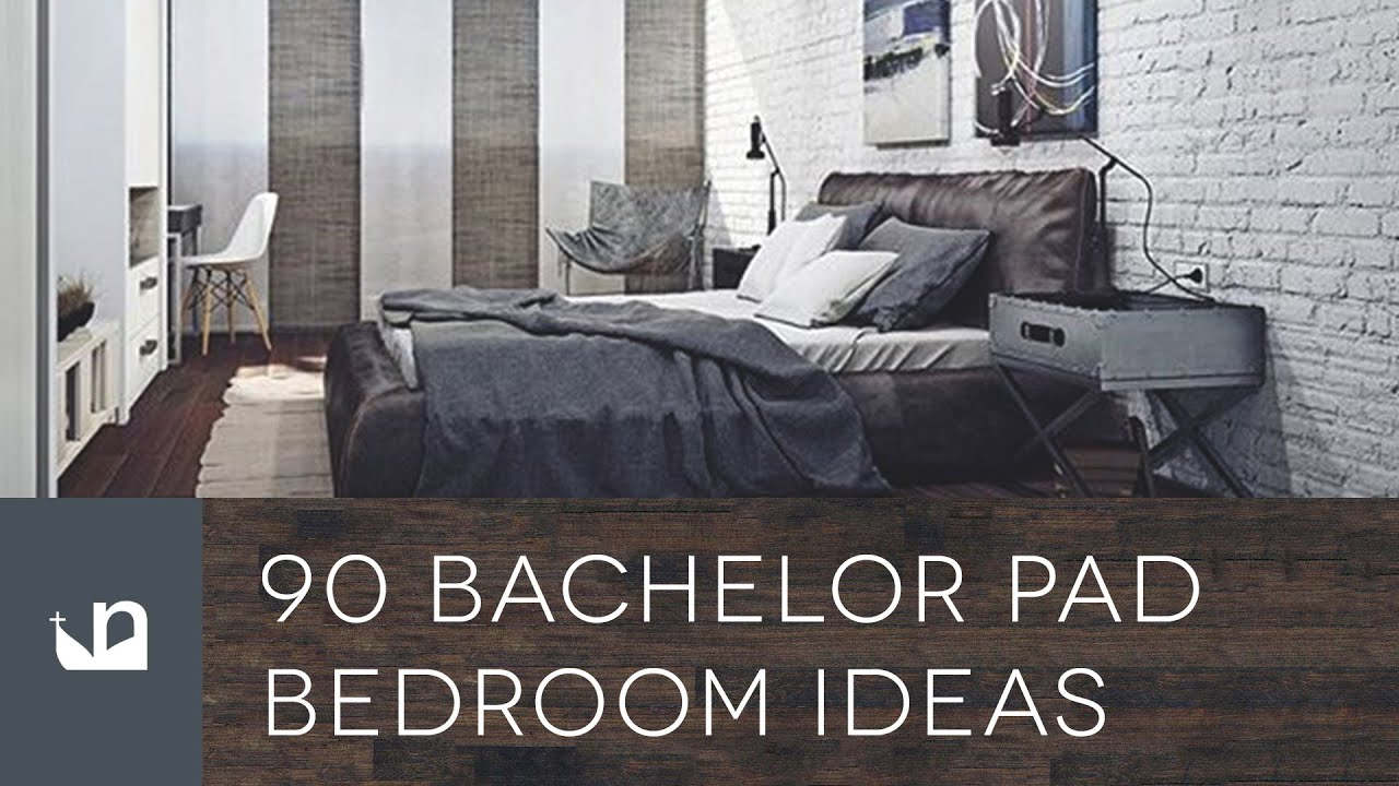 90 bachelor pad men's bedroom ideas - youtube