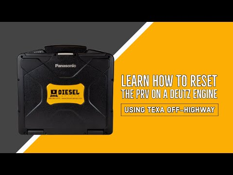 Diesel Laptops TEXA - Learn how to Reset the PRV on a Deutz Engine