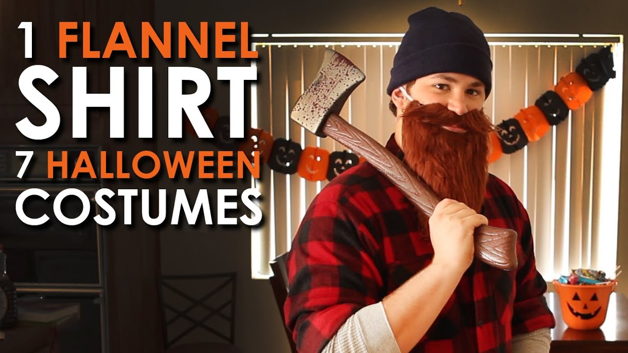 1 flannel shirt 7 halloween costumes art of manliness youtube