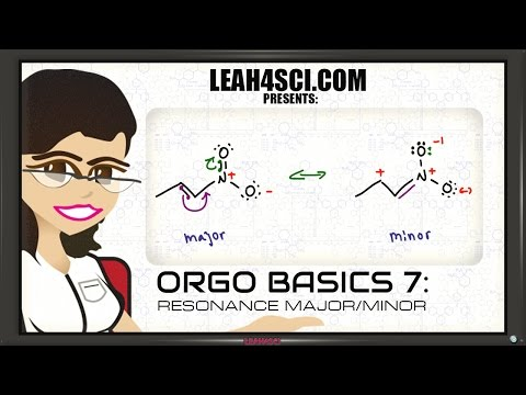 Major and Minor Resonance Contributing Structures - Orgo Basics Vid 7