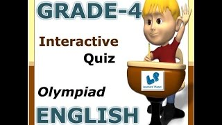 Online English Olympiad  Interactive Quiz 4th Class