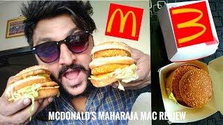 McDonald's Maharaja Mac Veg & Non-Veg Review 🔥 🍔|| Taste & Price test🔥 || McDonald's Burger 🍔