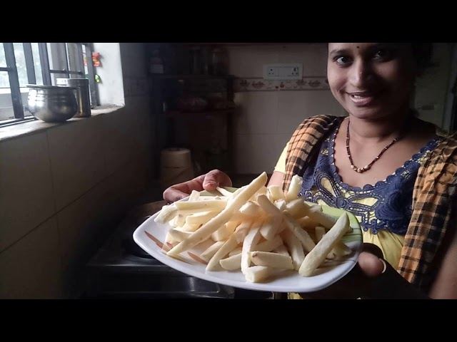 Kusuma Vasavi Telugu Ammayi Vlogs||French Fries Recipe||Telugu french fries||Telugu Ammayi Vantalu