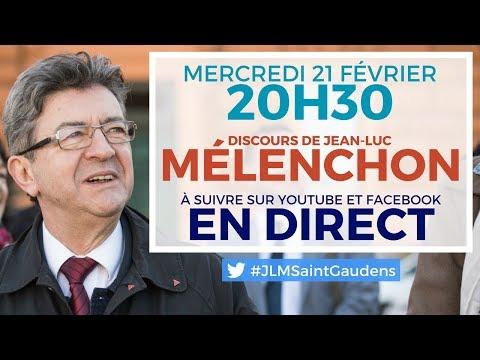 EN DIRECT - Discours de Jean-Luc Mélenchon à Saint-Gaudens - #JLMSaintGaudens