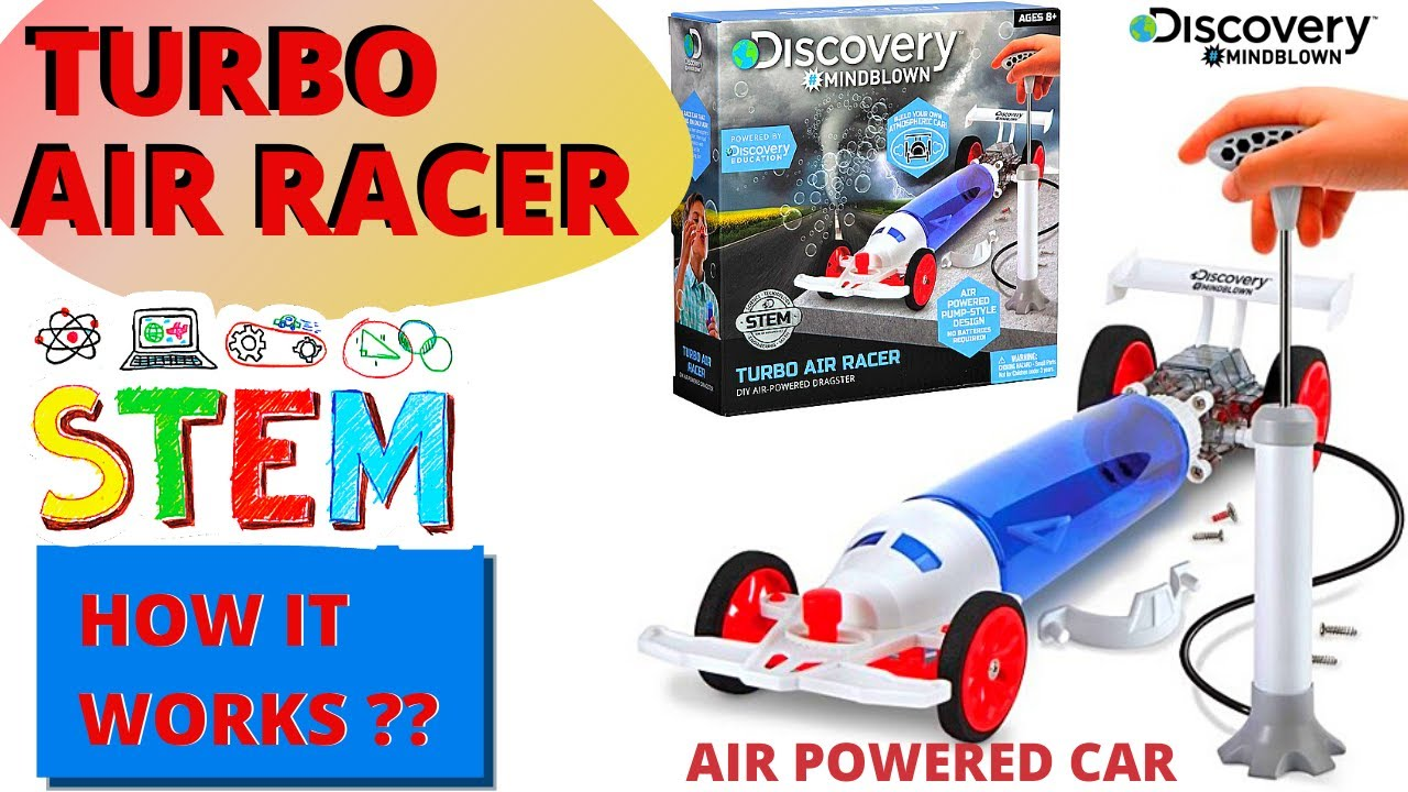 STEM Toys for kids  Turbo Air Racer  Discovery Mindblown 