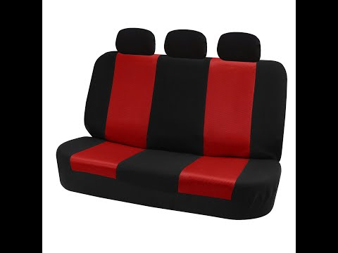 Car Solid Bench Seat Covers Installation FH Group YouTube