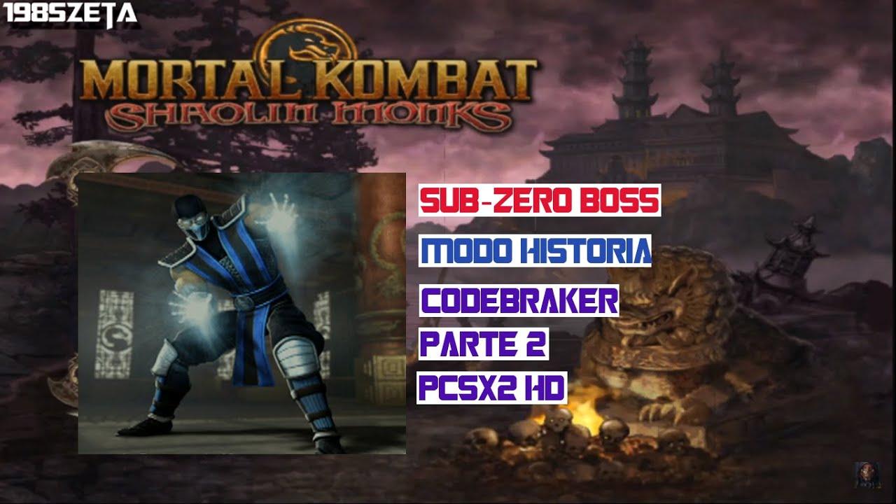 Mortal Kombat Shaolin Monks: Modo Historia con Sub Zero BOSS Pcsx2 HD  Codebraker Parte 2