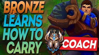 I teach a Bronze player to carry his team instantly, Challenger League of Legends Coaching.