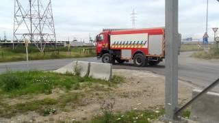 Brandweer Kalmthout gaat met spoed tanken bij zeer grote brand antwerpen
