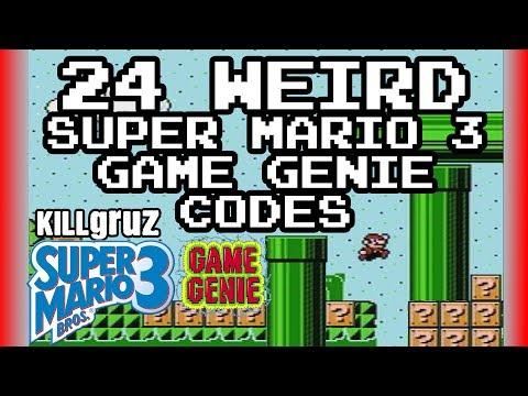24 WEIRD Super Mario 3 Game Genie Codes - Killgruz