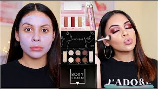 DECEMBER BOXYCHARM 2018: SMOKEY EYES & GLOSSY LIPS + MY NEW HAIR!!! | JuicyJas