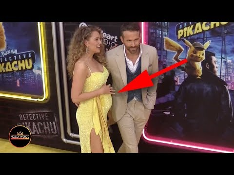 Blake ly and Ryan Reynolds Surprise Everyone at Pikachu Premiere with Pregnancy Reveal