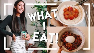 Hi everyone! in today's video, i'm sharing a real what i eat day showing you couple of my favourite easy / healthy meals. also giving look a...