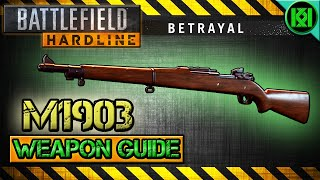 Battlefield Hardline M1903 Springfield Review (Gameplay) Best Gun Setup | BFH Weapon Guide Betrayal