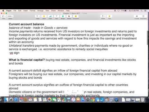 Chapter 11 Balance of Trade Macro