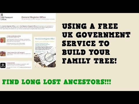 Using A Free Government Service To Research Your Family Tree!