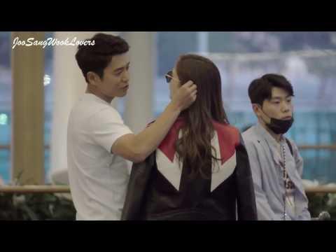 170426 Joo Sang Wook U0026 Cha Ye Ryun At Incheon Airport Heading To Hawaii For Pre-Wedding Photo Shoot