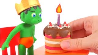 HAPPY BIRTHDAY SUPERHERO BABY!!! ❤ SUPERHERO PLAY DOH CARTOONS FOR KIDS