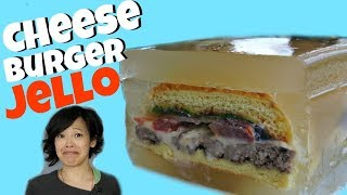 CHEESEBURGER JELLO ASPIC - hamburgers entombed in savory gelatin