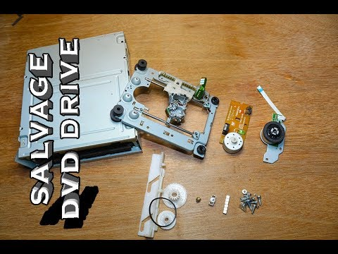 How to Salvage Scrap DVD drive for free useful components