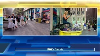 WATCH: Ainsley Earhardt Gets Dunked by Baseball-Throwing Nun, Sister Mary Jo
