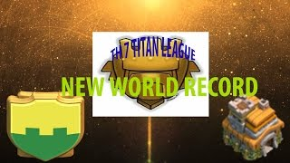 Clash Of Clans | SAVAGE SEVEN - NEW TH 7 WORLD RECORD
