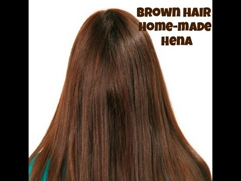 How to make hair colour at home (brown)