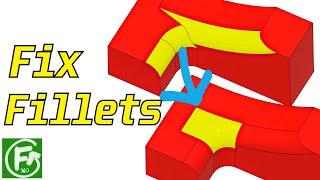 Fusion 360 | Fix Fillets (Surfacing)