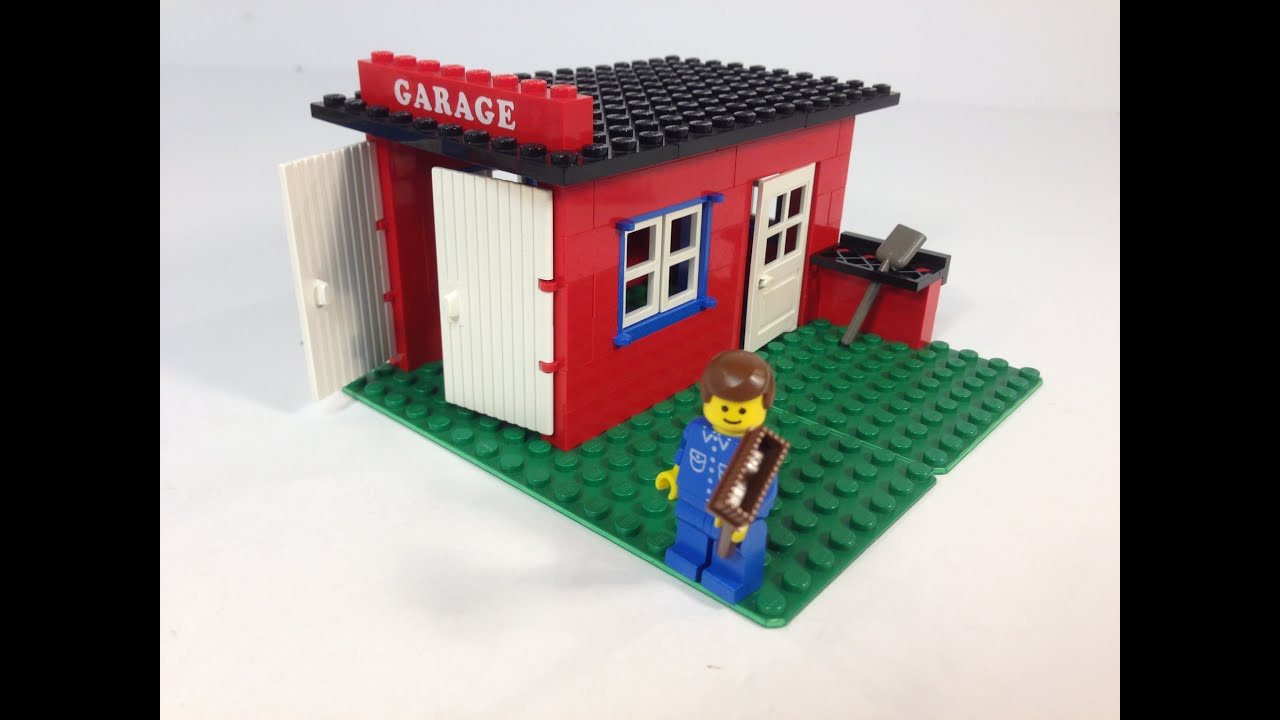 Lego Legoland 361 Garage From 1979 Vintage Town Youtube
