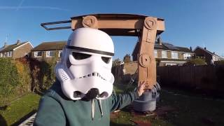 GIANT Backyard STAR WARS AT-AT! | What's Trending Now
