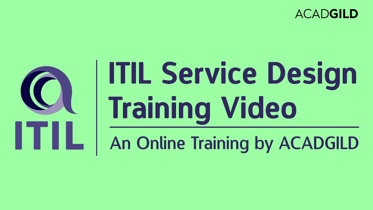 Itil Service Design Training Video Itil Certification Tutorial