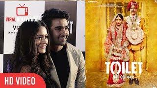 Anya Singh & Aadar Jain At Toilet Ek Prem Katha Special Screening   Toilet एक प्रेम कथा Review