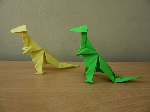 How to Make a Paper Tyrannosaurus Rex - Easy Tutorials