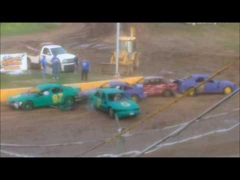 Vikings vs Packers Demolition Derby Football - Cedar Lake Speedway