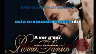 Odio & Propuesta Indecente Romeo Santos Karaoke