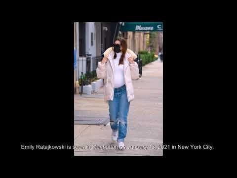 Emily Ratajkowski is seen in Manhattan on January 13, 2021 in New York City.