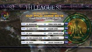 Trực tiếp TH League S2 2018 - Vòng 6 [FC Thóc vs FC Lucky Thanh Hà]
