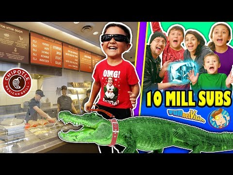 Thumbnail: KID LOSES PET ALLIGATOR + PRANKS CHIPOTLE STRANGERS & More! FUNnel Vision 10 MILLION SUBS Celebratin