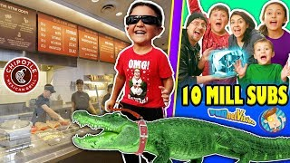 KID LOSES PET ALLIGATOR + PRANKS CHIPOTLE STRANGERS & More! FUNnel Vision 10 MILLION SUBS Celebratin