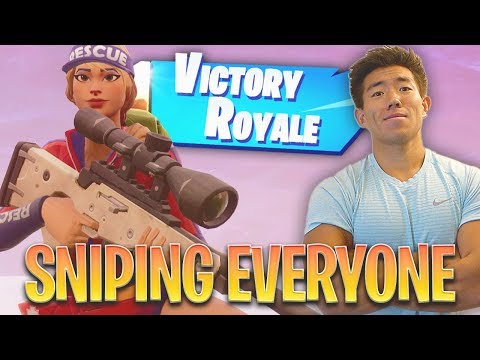 DOMINATING SOLOS! SNIPING EVERYONE! Fortnite Battle Royale
