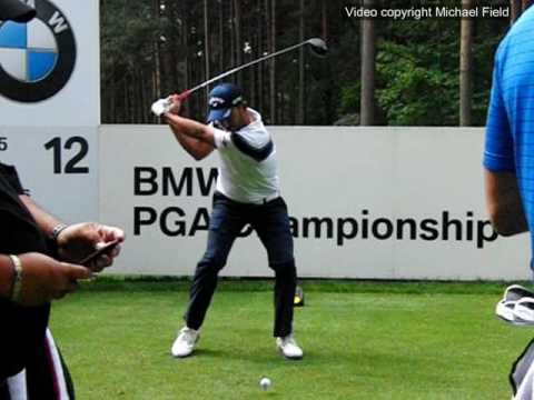 Pablo Larrazábal golf swing Driver (face-on), BMW PGA Wentworth, May 2017.
