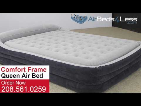 Intex Queen Size Comfort Frame Air Bed Youtube
