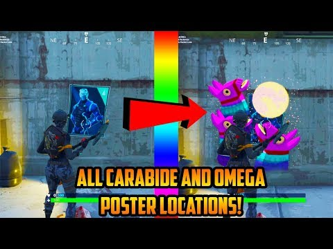 ALL CARABIDE AND OMEGA POSTER LOCATIONS (Fortnite Battle Royale) *Week 6 Challenges*