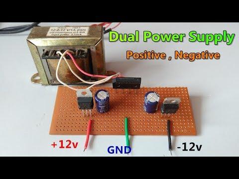 DC (+12v, 12v, GND) Dual power supply - Using center tapped transformer