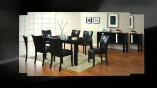 Furniture Of America Basic Modern Rectangular High-gloss Dining Table, Black