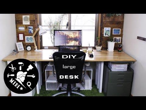 【DIY】IKEAの商品で簡単デスクを作成☆【DIY】My dream desk setup by IKEA item