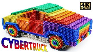 DIY - How To Make Tesla Cybertruck From Magnetic Balls (Satisfying) | Magnet World Series