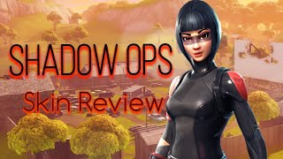 FORTNITE **EPIC** SHADOW OPS SKIN REVIEW! 20+ EMOTES 60+ BACKBLINGS!