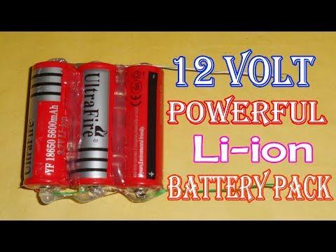 Lithium Ion Battery Packs - Lithium Ion Battery Pack 12v